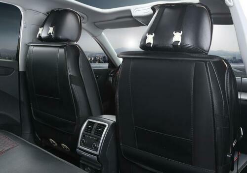 Per Mercedes BMW Coprisedili Nero /& Bordo Rosso Coppia Similpelle 1+1 Anteriori