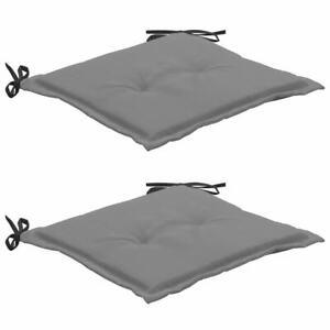 vidaXL 2x Garden Chair Cushions Black and Grey Terrace Outdoor Sofa Bench Seat