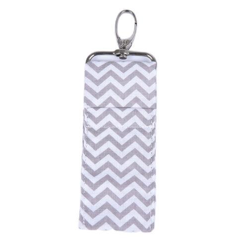 Wave Lip Balm Lipstick Chapstick Holder Storage Pouch Bag Key Chain Keyring  ZB