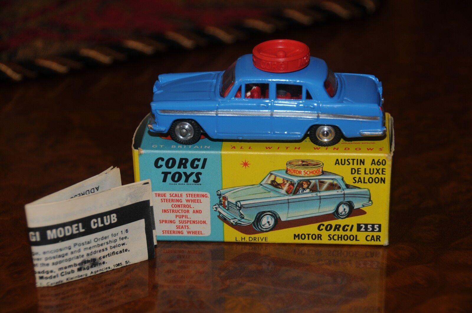 Vintage Corgi    Austin A60 Sedan   Motor Driving School   255