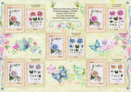 s x 1 Set of 10 Tattered Lace Rainy Days ETERNAL-1 or 2 Decoupage Set Options