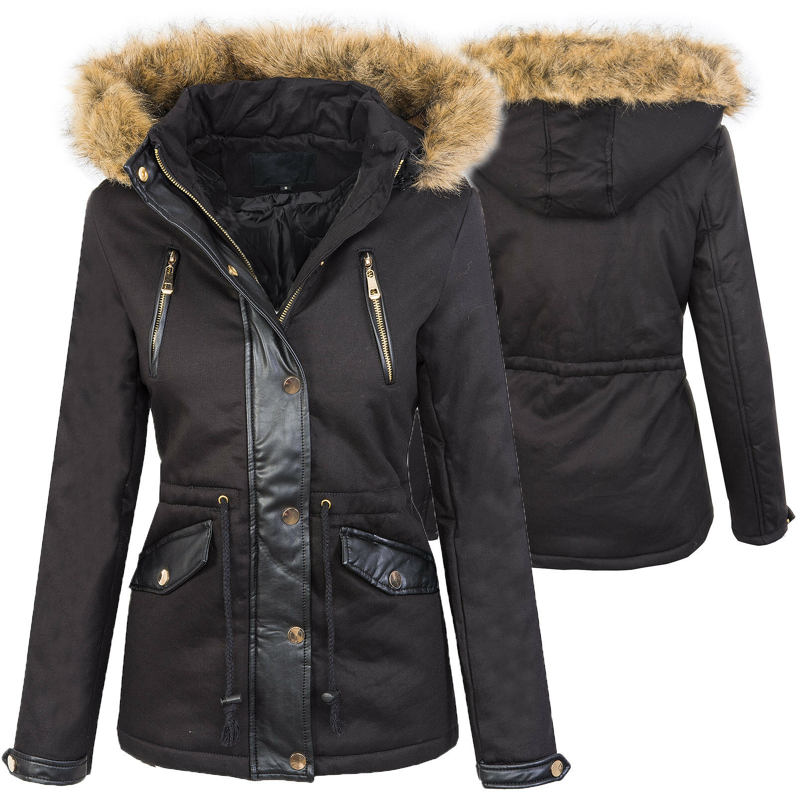 ... Da Donna Giacca Invernale Cappotto Eskimo Giacca Donna Cappuccio Caldo  Cappuccio Donna 5480d6 aa28eef3bc7