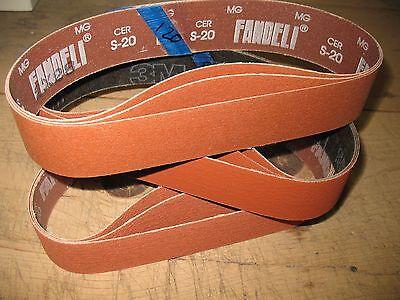 """Ultimate Ceramic Asst 2 x 28/"""" sanding belts to fit Eastwood sander 9 pc"""