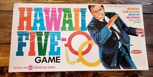 """1968 """"HAWAII FIVE-O"""" Jack Lord Orig. REMCO TELEVISION BOARD GAME Complete In BOX"""