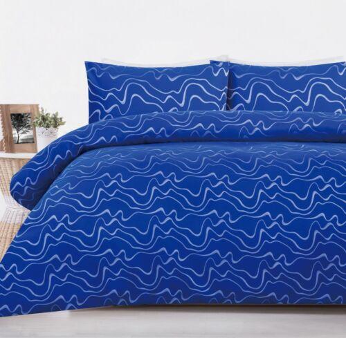 300TC Bronte Black Blue Jacquard Quilt Doona Cover Set QUEEN KING