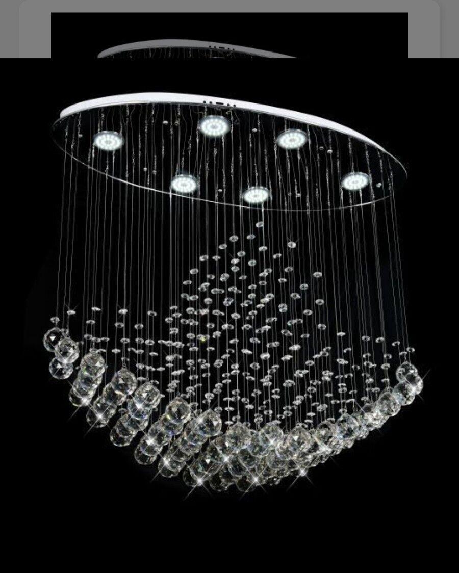 gli ultimi modelli Moderno Cristallo Lampada Sospensione Luce Luce Luce Lampadari da soffitto  negozio online outlet