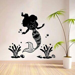 Details about  /Wonderful Little Mermaid Cartoon Home Room Wall Sticker Vinyl Art Decals Decor