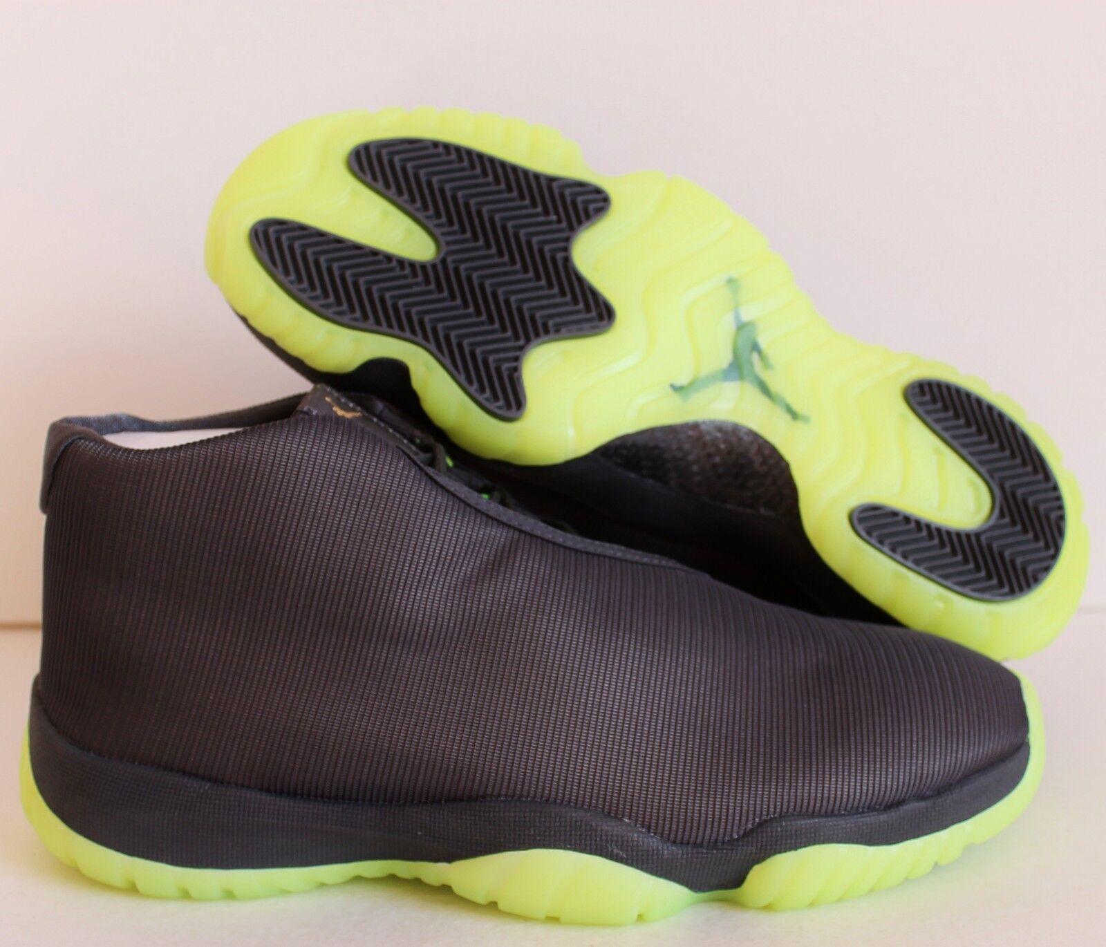 NIKE AIR JORDAN FUTURE FOOTSCAPE DARK GREY-VOLT SZ 12 [656503-025]