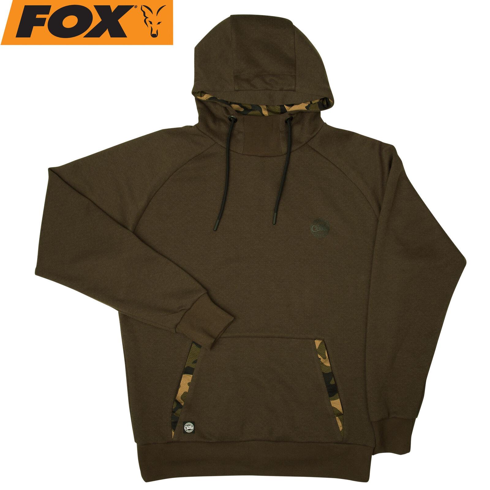 Fox Chunk Dark Khaki Camo Hoodie - Angelpullover Pullover für für für Karpfenangler 551d85