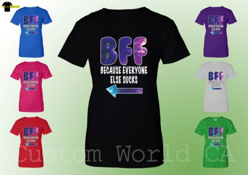 BFF Women T Shirt BFF Tee Best Female Friends Couple Matching Shirt Tee
