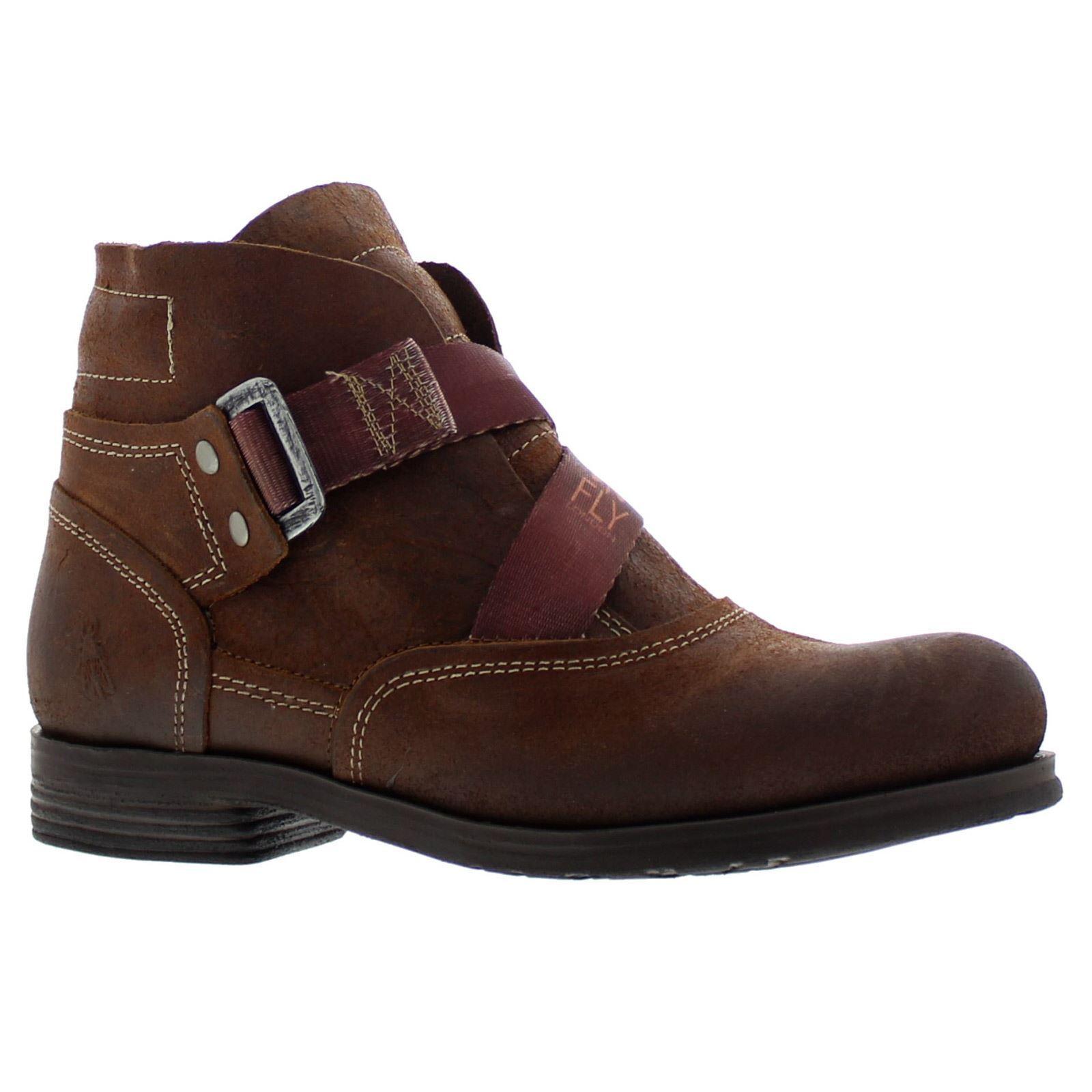 Fly London cuero cuero cuero marrón Saji 047 para mujer botas al tobillo  orden ahora con gran descuento y entrega gratuita