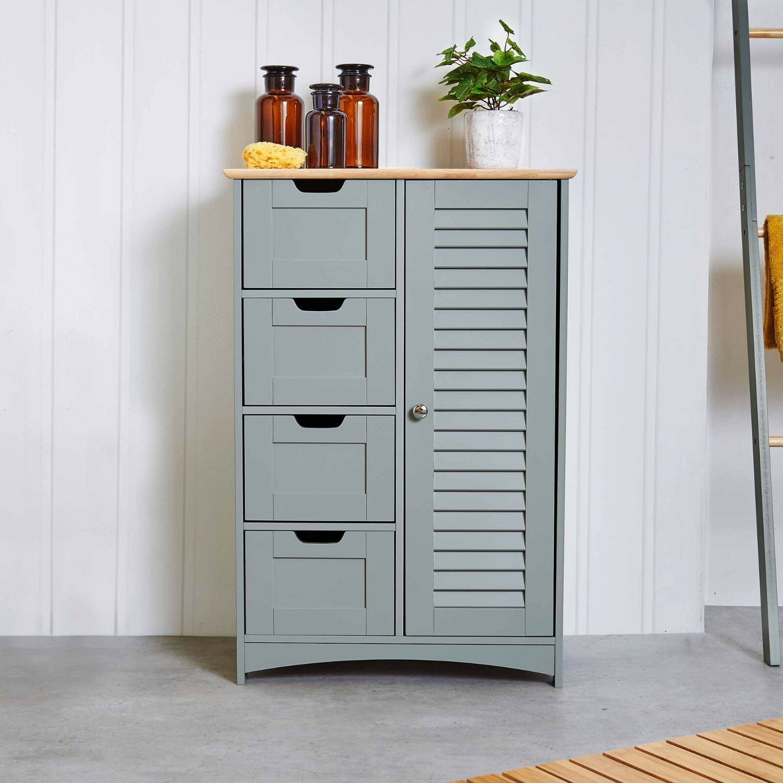 Vonhaus 4 Chest Large Bathroom Cabinet