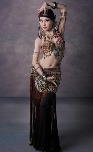 Tribal Style Belly Dance Costume 2 Pics Bra/&Skirt 34B//C 36B//C 38B//C XL//Bra D Cup