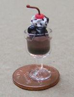 1:12 Scale Chocolate Ice Cream Sundae Dolls House Miniature Food Accessory I28