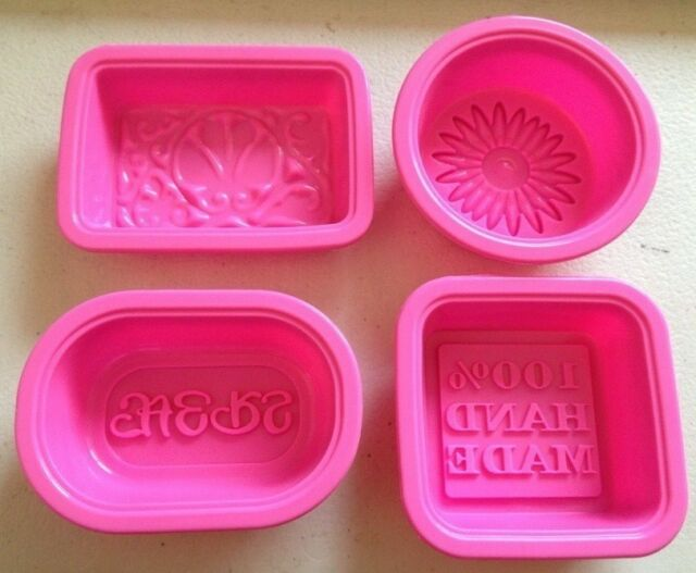 4pcs Silicone 100% Hand Made Soap Candle Cake Chocolate Mold Mould G001