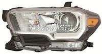 Toyota Tacoma Black Left Driver Headlight Head Light Front Lamp W/o Drl
