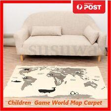 Kids children zoo animal map design playmat printed rug in 75x112 cm 140x90cm children kids play game floor rug world map carpet blanket room mat au gumiabroncs Image collections