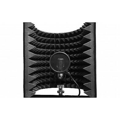 Microphone Isolation Shield  Ecosound L , Acoustic Foam Microphone Screen
