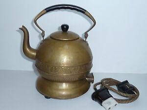 Obligatorisch Art Deco Protherm Wasserkessel Tee-maschine Elektrisch Messing Teekanne