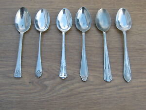 6 Silver Plated Teaspoons