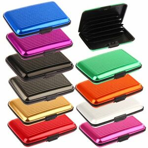 cheap for discount 4f9d9 ff5f5 Details about Aluminium RFID Wallet Case & Contactless Protection Credit  Card Wallet Holder