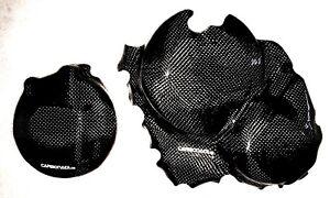Aprilia rsv4 Tuono 09-16 2 x carbon embrague tapa lima tapa Engine Carbone