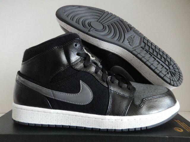d0c073bd Nike Air Jordan 1 Mid Premium Sz 13 Wool Winterized Black Red Gray 852542  001 for sale online | eBay