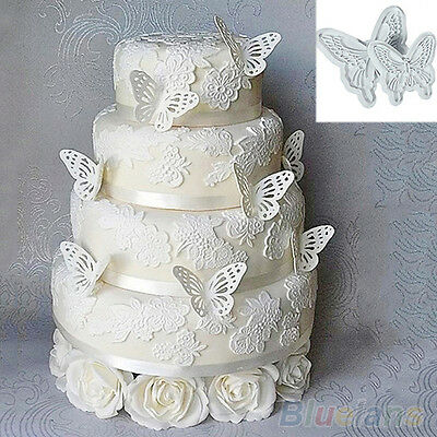 2X New Butterfly Cake Fondant Decorating Sugarcraft Cookie Cutters Mold