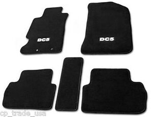 Acura Rsx 02 06 Floor Mats Set Black Carpet With White Dc5