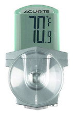 Acurite 00799Hdsba1 00799 Digital Outdoor Window Thermometer White