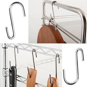 Useful S-shaped Stainless Steel Hanging Hooks Kitchen Bathroom Hangers Holder
