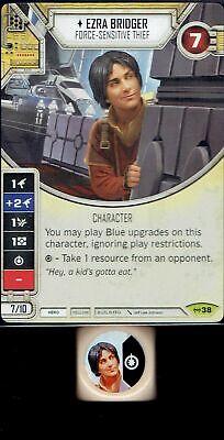 Star Wars Destiny Empire at War Set Ezra Bridger #38 Rare w// Die