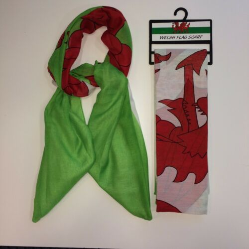 GREAT FOR SPORTS EVENT WELSH FLAG SCARF COME ON WALES UNISEX