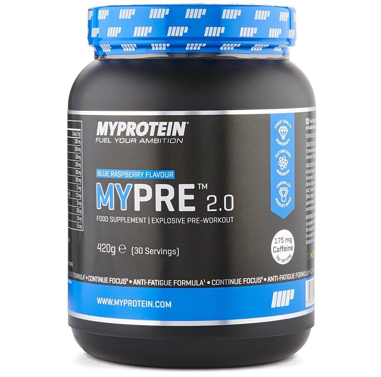 MYPROTEIN MyPre 2.0 Pre-Workout Food Supplement 420g Blau Raspberry