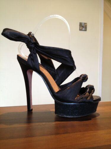 27acd809cd4 Satin Heels 3 High Geiger Kg Glitter Toe Platform Kurt Size Shoes Peep  Black x1OTpn