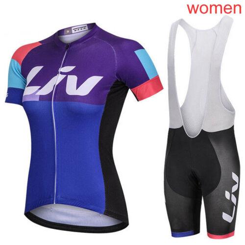 New Cycling Jersey Women Set 2019 Racing Bike Clothing bike shirt bib shorts Kit