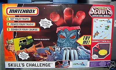 Matchbox Power Scouts aventuras el desafío de cráneo Set 2008