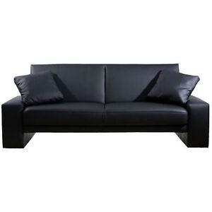 Amazing Black Faux Leather Supra Cuba Sofa Bed EBay