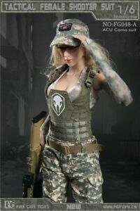 Fire-Girl-Toys-1-6-FG048A-Tactical-Female-Fighter-Clothes-Set-Fit-12-034-Figure
