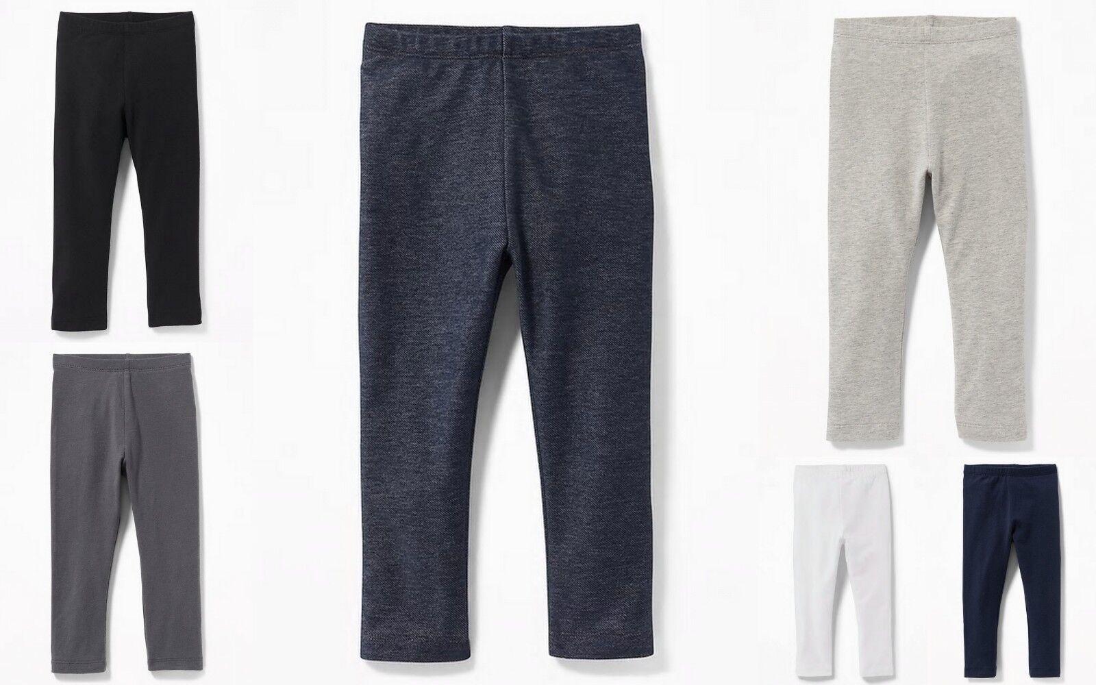 NWT Old Navy Toddler Girls Full Length Jersey Leggings Pants U-PICK 3T 4T 5T