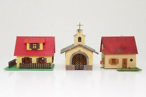 Konvolut-Spur-N-2-x-Wohnhaus-Kapelle-fertig-aufgebaut