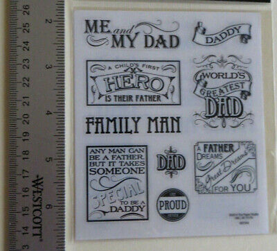 STICKABILITIES DAD PHRASES Paper Studio 2 Stickr Strp ME /& MY DAD FAMILY MAN NEW