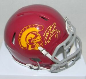 TYRON-SMITH-AUTOGRAPHED-SIGNED-USC-TROJANS-SPEED-MINI-HELMET-JSA