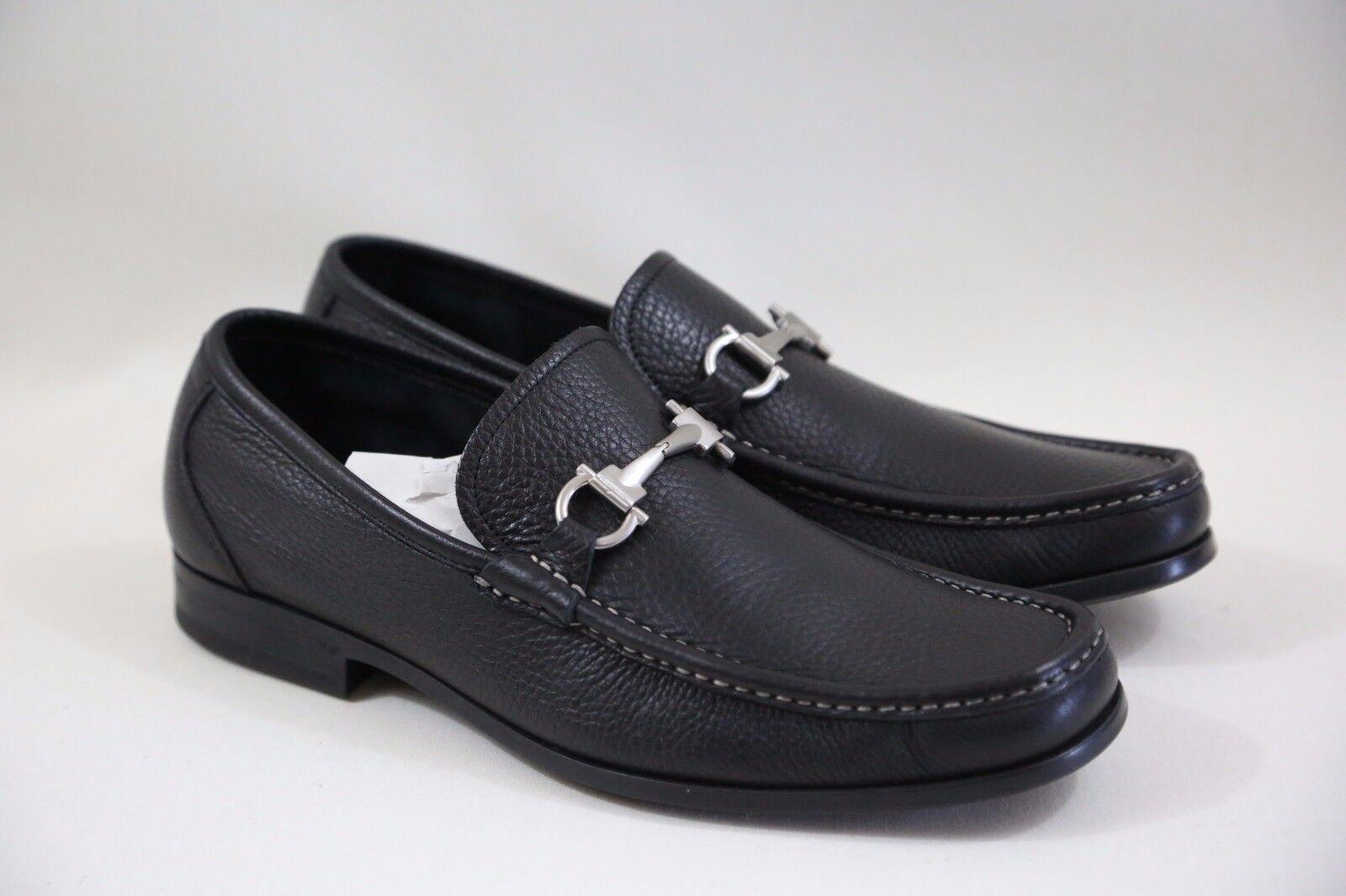 +SALVATORE FERRAGAMO 'Magnifico' Black Loafers Size 8.5 EE