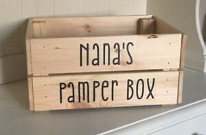 Details About Nana S Pamper Box Vinyl Decal Sticker Bundle Ideal Diy Mother S Day Gift