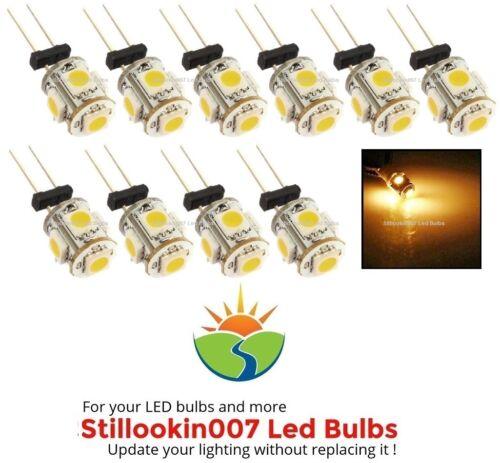 10-Paysage Ampoules Blanc Chaud 5LED Remplace 12 V G4 Malibu Ampoules