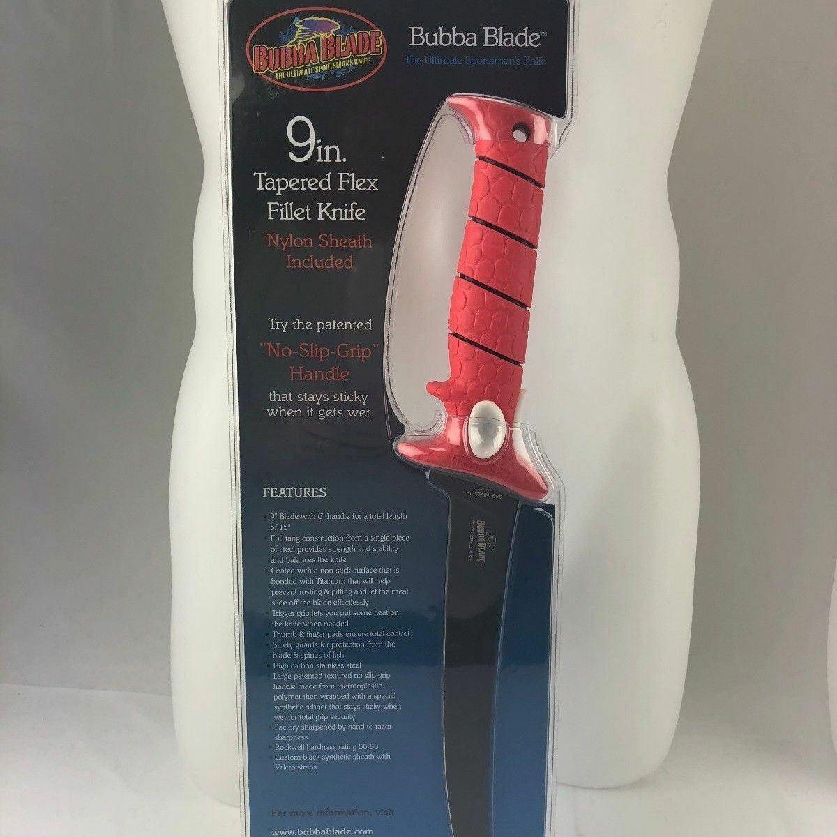 Fillet Knife 9 Inch Flex Blade With Sheath Bubba Blade