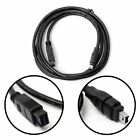 NEW 5FT/1.5M Black Firewire 800 to 400 9 Pin to 4 Pin Lead Cable IEEE1394B