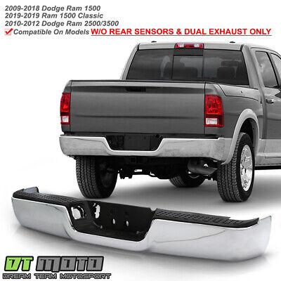 For 10-12 Dodge Ram 25 3500 Rear Step Bumper Black Face Bar Step Pad W//O Sensor
