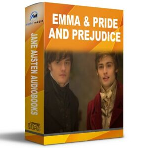 Jane-Austen-Pride-and-Prejudice-amp-Emma-2-MP3-CD-Audio-Books-Talking-Classic
